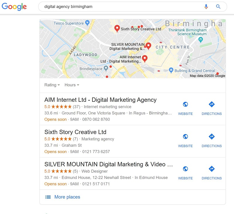 Digital Agency Worcester Google My Business